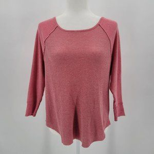 Victoria's Secret Pink Silver Thermal Top Small